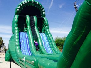 tall dry slide rentals in miami
